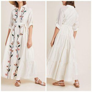 Anthropologie SAMANT CHAUHAN  Embroidered Shirtdre